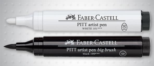 Маркер четка - голямa Artist Pen - Big Brush Faber-Castell PITT